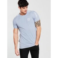 11 Degrees Tape Sleeve T-shirt, Grey, Size S, Men
