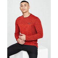 UNDER ARMOUR Siphon Long Sleeve T-shirt, Red, Size S, Men