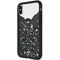 Kate Spade New York New York Lace Cage Case For Iphone X - Lace Hummingbird Black/Clear