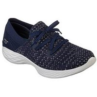 Skechers You Prominence Trainer, Navy Multi, Size 7, Women