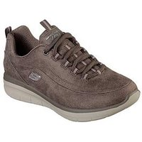 Skechers Synergy 2.0 Trainer, Dark Taupe, Size 8, Women