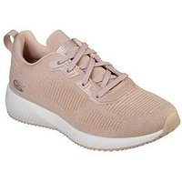 Skechers Bobs Squad Total Glam Trainer, Light Pink, Size 8, Women