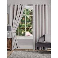 Product photograph showing Hugo Blackout Linen Eyelet Curtains