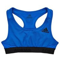 adidas Girls Ask Sports Bra, Blue, Size 7-8 Years, Women