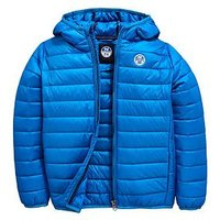 North Sails Boys North Super Light Hooded Jacket, Blue, Size Age: 10 Years