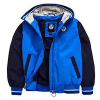 North Sails Boys Sailor Hooded Bomber Jacket, Blue, Size Age: 10 Years