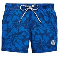 North Sails Boys All Over Print Swim Short, Blue, Size 4 Years