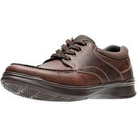 Clarks Cotrell Edge Wide Fit Leather Lace Up Shoes - Brown