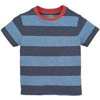 Ralph Lauren Boys Short Sleeve Stripe T-shirt, Blue, Size 4 Years
