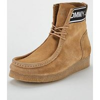Tommy Jeans Crepe Outsole Suede Wallaby Shoes - Sand, Sand, Size 6, Men