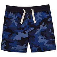 Ralph Lauren Boys Camo Jersey Short, Blue Camo, Size 8 Years=S