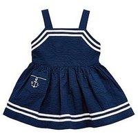 Ralph Lauren Baby Girls Nautical Dress, Navy, Size 12 Months