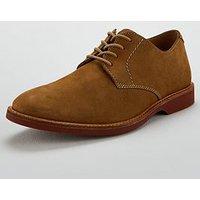 Clarks Atticus Leather Lace Up Shoe, Sand Nubuck, Size 6, Men