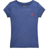 Ralph Lauren Girls Short Sleeve Classic T-shirt, Blue Heather, Size Age: 3 Years, Women