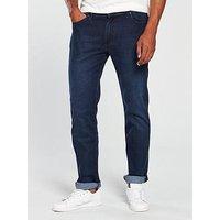 Wrangler Arizona Classic Straight Jean, Spilled Indigo, Size 30, Inside Leg Long, Men