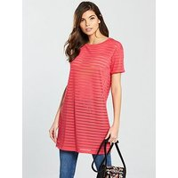 V by Very Boyfriend Panel Tunic - Pink, Pink, Size 8, Women