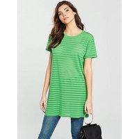 V by Very Boyfriend Panel Tunic - Green, Green, Size 8, Women