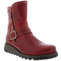 Fly London Fly Seku376 Buckle Ankle Boot - Red , Red, Size 9, Women