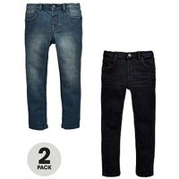 Boys, Mini V by Very 2 Pack Skinny Jean - Black and Grey, Black/Grey, Size Age: 5-6 Years
