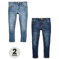 Boys, Mini V by Very 2 Pack Skinny Jean, Denim, Size Age: 5-6 Years