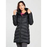 adidas Mid Length Down Coat, Black, Size 2Xl, Women