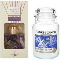 Yankee Candle Midnight Jasmine Large Jar Candle And Reed Diffuser Set