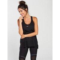 Nike Training Elastika Tank - Black , Black, Size Xl, Women
