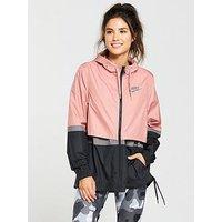 Nike Sportswear Woven Jacket - Pink , Pink, Size L, Women