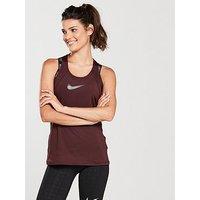 Nike Training Pro Cool Tank, Burgundy, Size S, Women