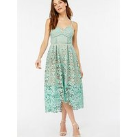 Monsoon Madison Strappy Lace Dress - Green