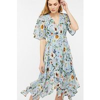 Monsoon Heidi Print Hanky Hem Dress