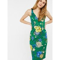 Monsoon Jade Print Shift Dress - Green