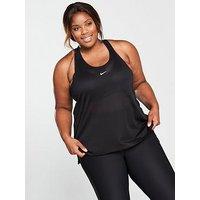 Nike Elastika Vest (Curve) - Black, Black, Size 26-28=3X, Women