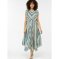 Monsoon Kandi Soft Stripe Midi Dress