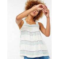 Monsoon Lucille Cami, White, Size S, Women