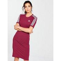 adidas Originals 3 Stripes Dress - Ruby , Ruby, Size 6, Women