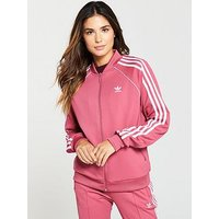 adidas Originals Superstar Track Top - Dusty Pink , Dusty Pink, Size 18, Women