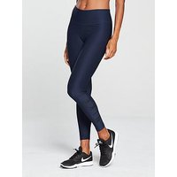 Nike Training Power 7/8 Tight - Navy , Navy, Size L, Women