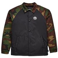 Vans Boys Torrey Coach Jacket, Camo/Black, Size L=12-14 Years