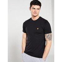 Lyle & Scott Fitness Fitness Martin T-Shirt, True Black, Size S, Men