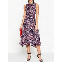 Hugo Kestani Camo Print Belted Sleeveless Dress - Pink