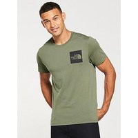 THE NORTH FACE Short Sleeve Fine T-Shirt, Green, Size S, Men