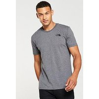 THE NORTH FACE Short Sleeve Simple Dome T-Shirt, Medium Grey Heather, Size L, Men