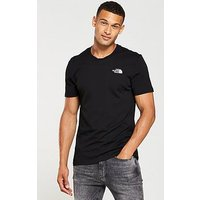 THE NORTH FACE Short Sleeve Simple Dome T-Shirt, Black, Size L, Men
