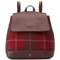 Joules Trippa Backpack - Red Check, Red, Women