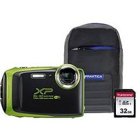Fujifilm Fujifilm Finepix Xp130 Tough Lime Green Camera Bundle Inc 16Gb Sd Card And Case