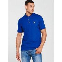 Lyle & Scott Lyle & Scott Plain Polo Shirt, Duke Blue, Size S, Men