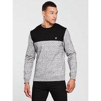 Lyle & Scott Space Dye Sweatshirt, True Black, Size L, Men