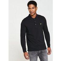 Lyle & Scott Lyle & Scott LS Plain Polo Shirt, True Black, Size Xs, Men