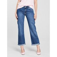 V by Very Taylor Slouch Jean - Mid Wash, Mid Wash, Size 16, Women